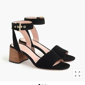 J.Crew ankle strap sandals in suede